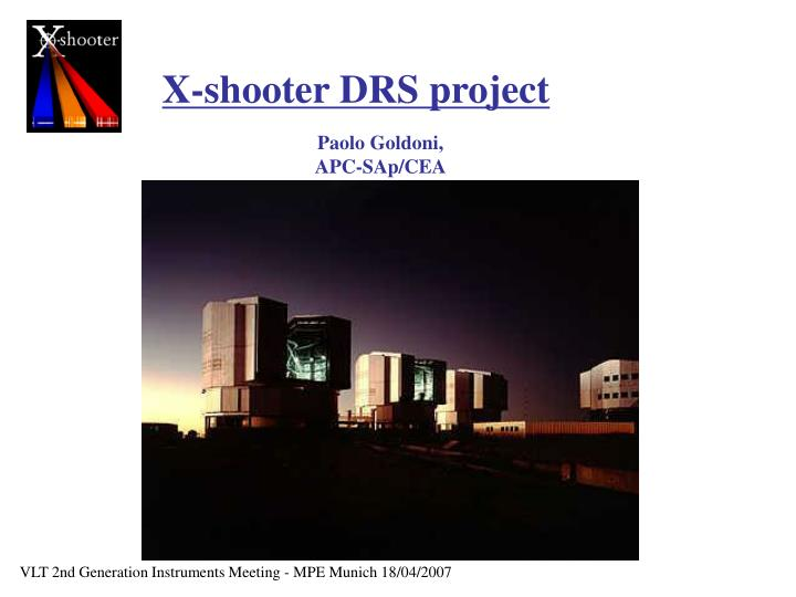 X-shooter DRS project