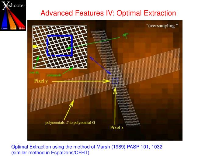 Advanced Features IV: Optimal Extraction