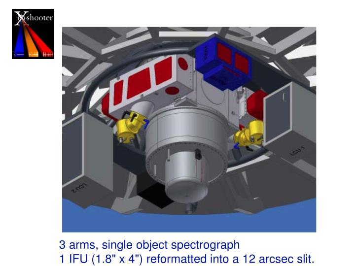 3 arms, single object spectrograph