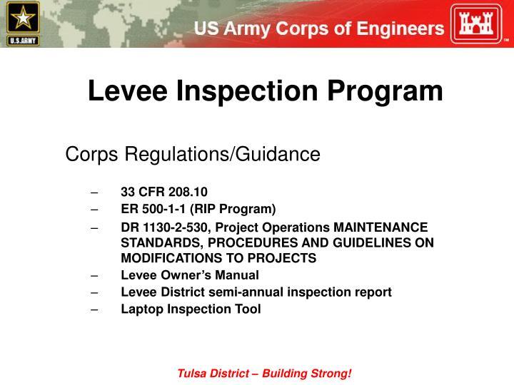 Levee Inspection Program
