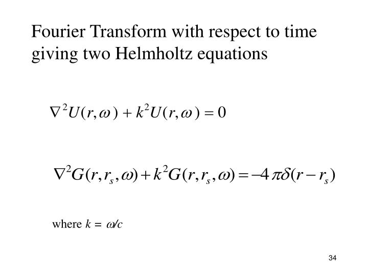 Fourier Transform with respect to time
