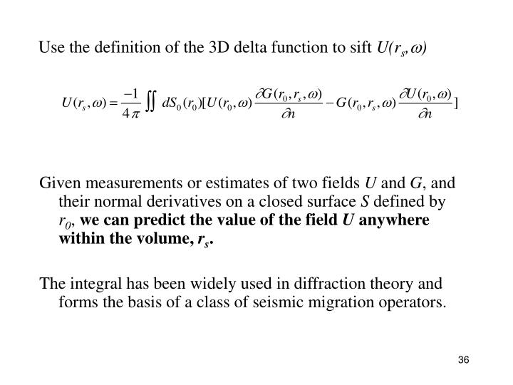 Use the definition of the 3D delta function to sift
