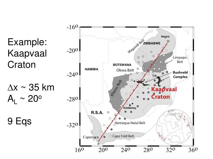 Example: Kaapvaal Craton