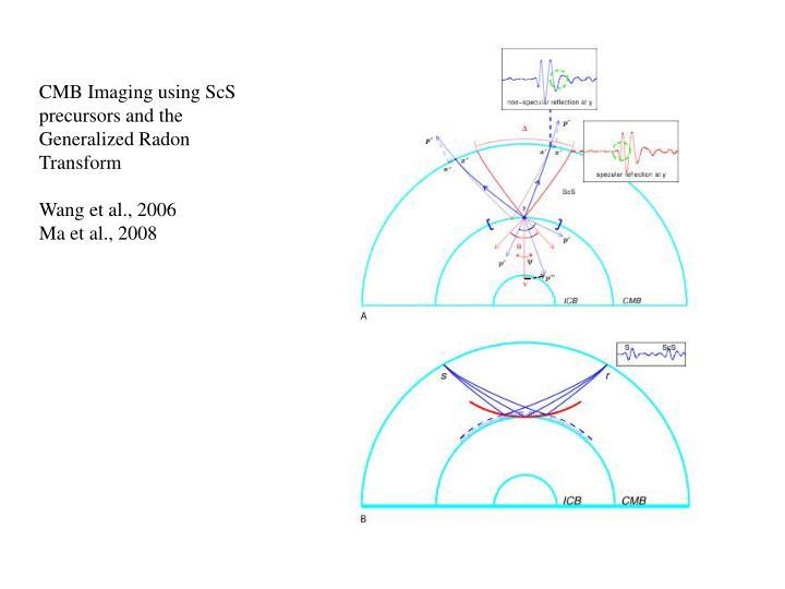 CMB Imaging using ScS precursors and the Generalized Radon Transform