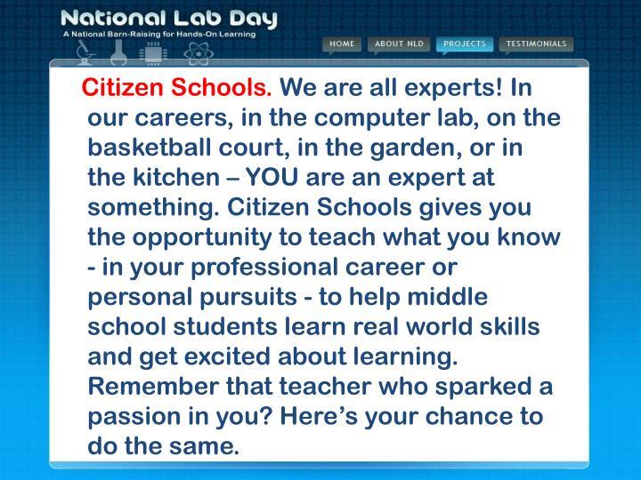 Citizen Schools.