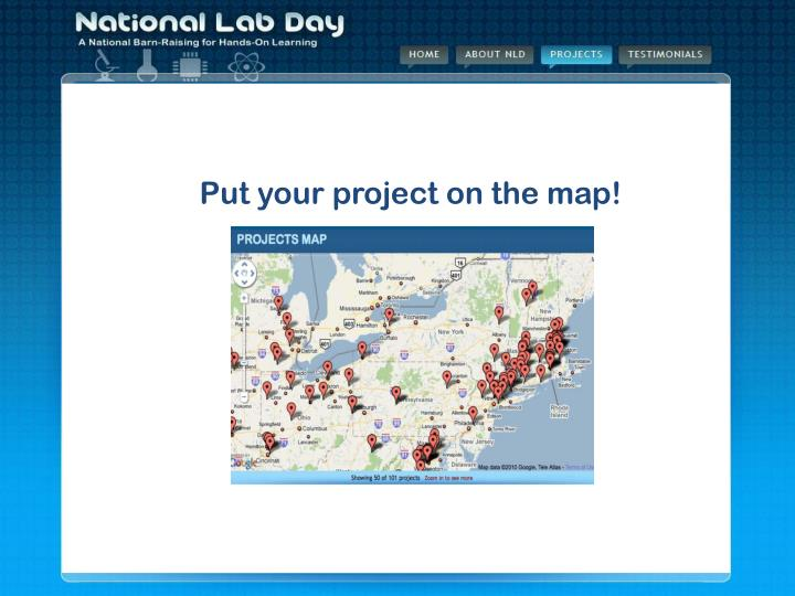 Put your project on the map!