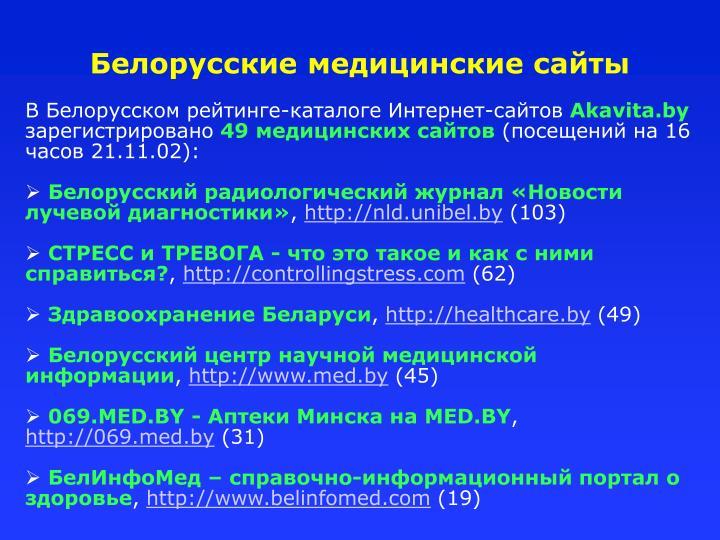 Белорусские медицинские сайты