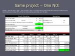 same project one noi