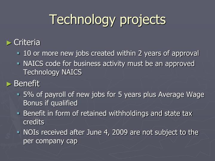 Technology projects