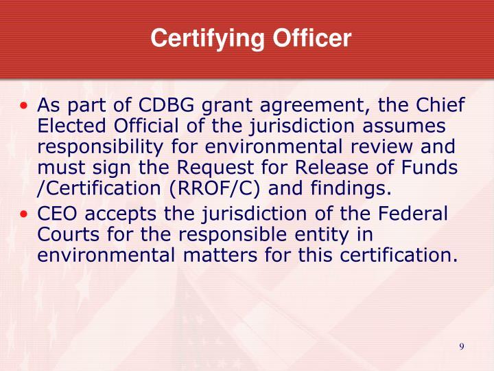 Certifying Officer