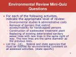 environmental review mini quiz questions1