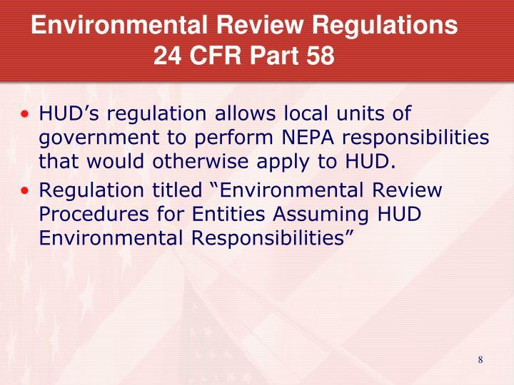 Environmental Review Regulations