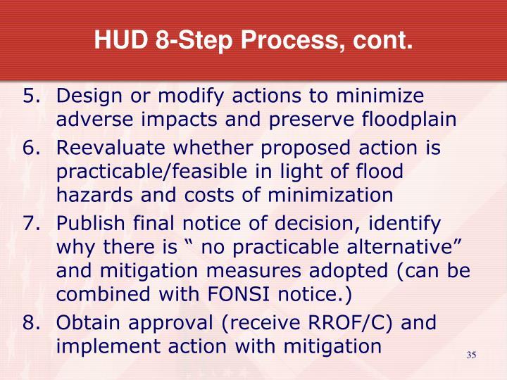 HUD 8-Step Process, cont.