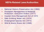 nepa related laws authorities