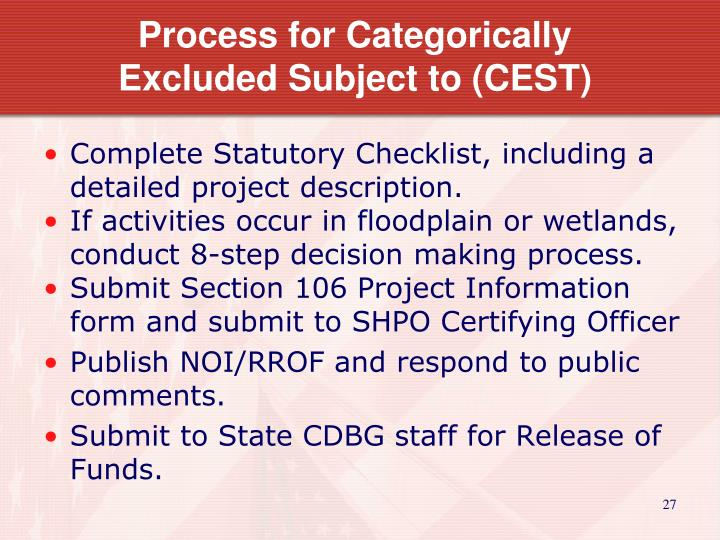 Process for Categorically