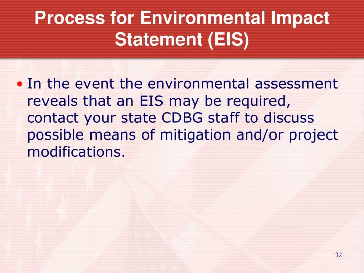Process for Environmental Impact Statement (EIS)