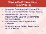 steps in the environmental review process