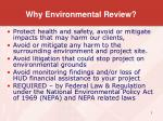 why environmental review
