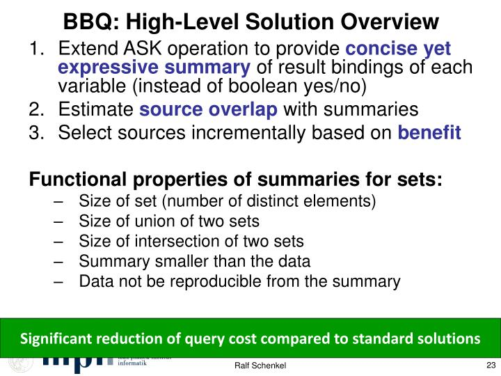 BBQ: High-Level Solution Overview