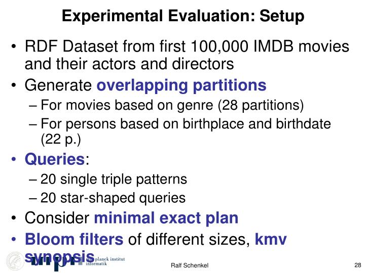 Experimental Evaluation: Setup