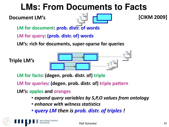 LMs: From Documents to Facts