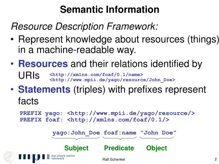 Semantic information