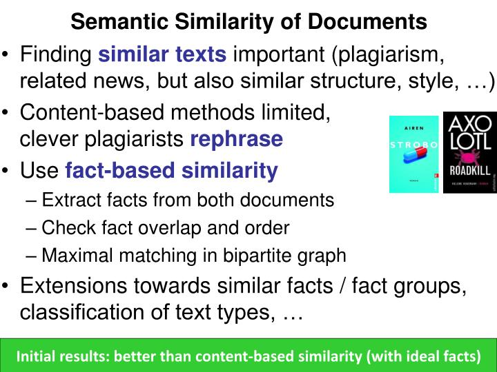 Semantic Similarity of Documents