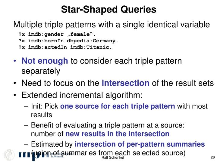 Star-Shaped Queries