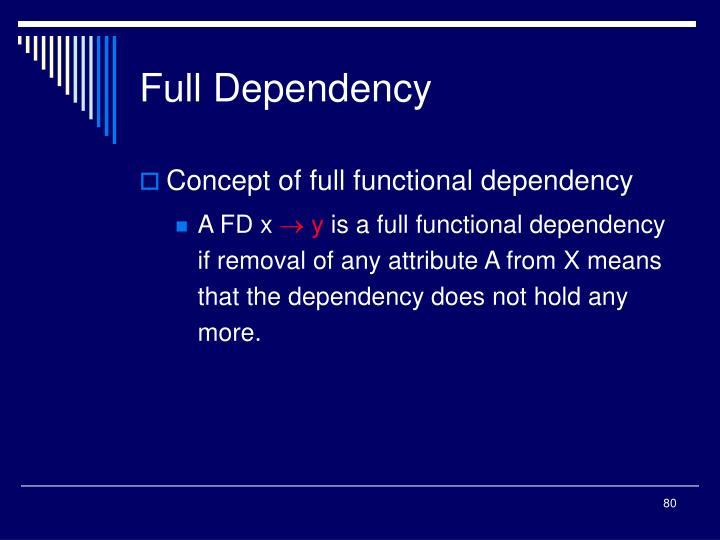 Full Dependency