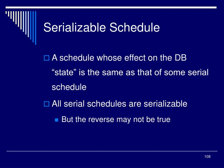 Serializable Schedule