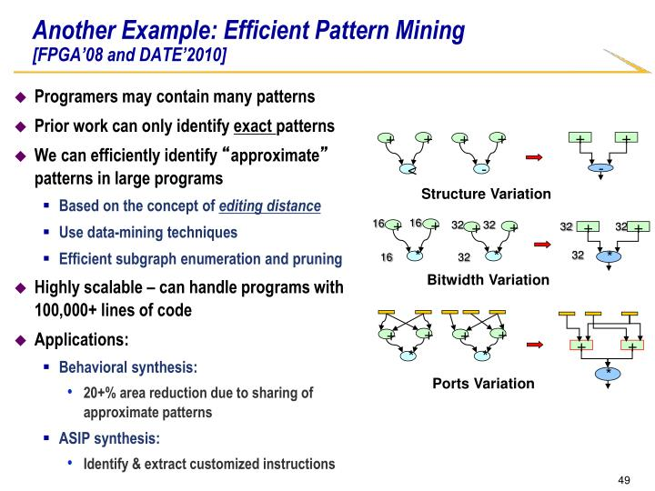 Another Example: Efficient Pattern Mining