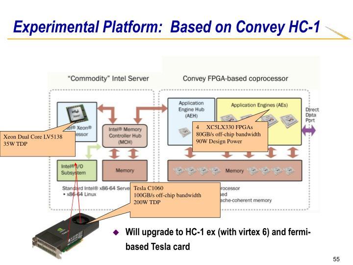Experimental Platform:  Based on Convey HC-1