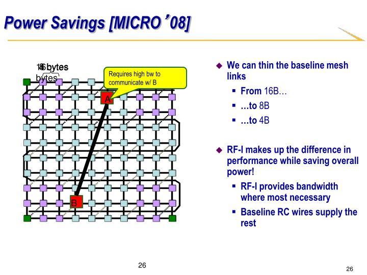 Power Savings [MICRO