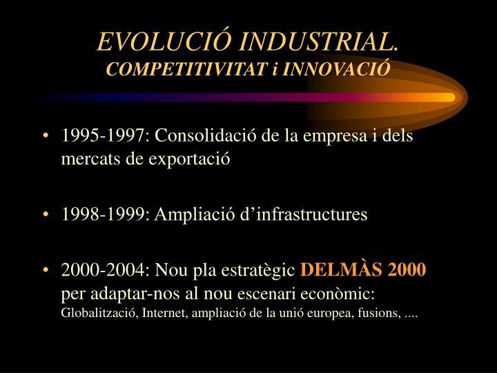 EVOLUCIÓ INDUSTRIAL.