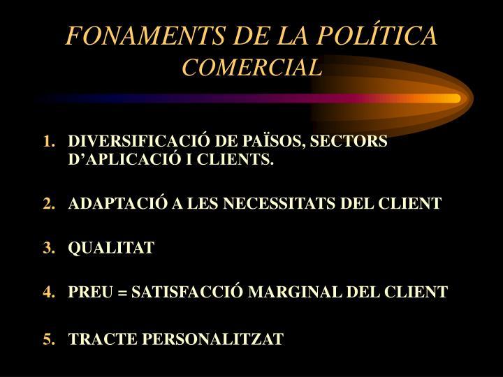 FONAMENTS DE LA POLÍTICA