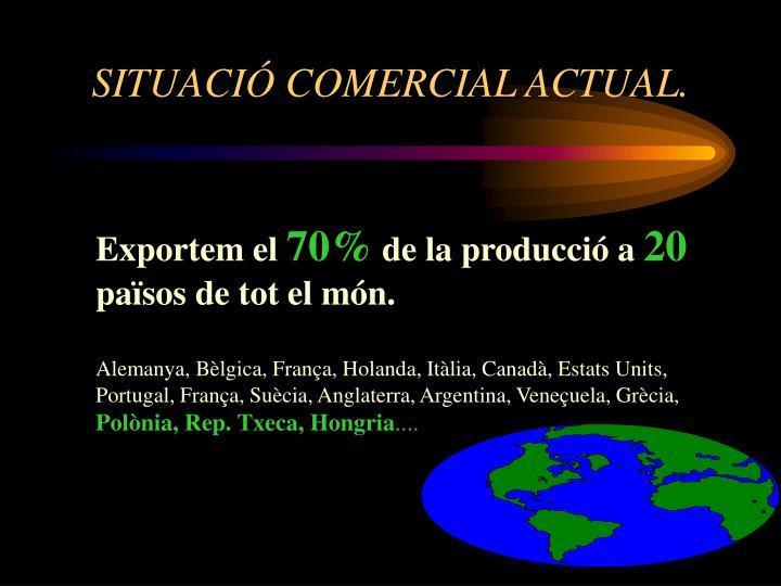 SITUACIÓ COMERCIAL ACTUAL.