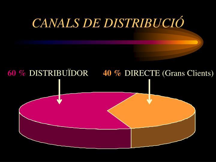 CANALS DE DISTRIBUCIÓ