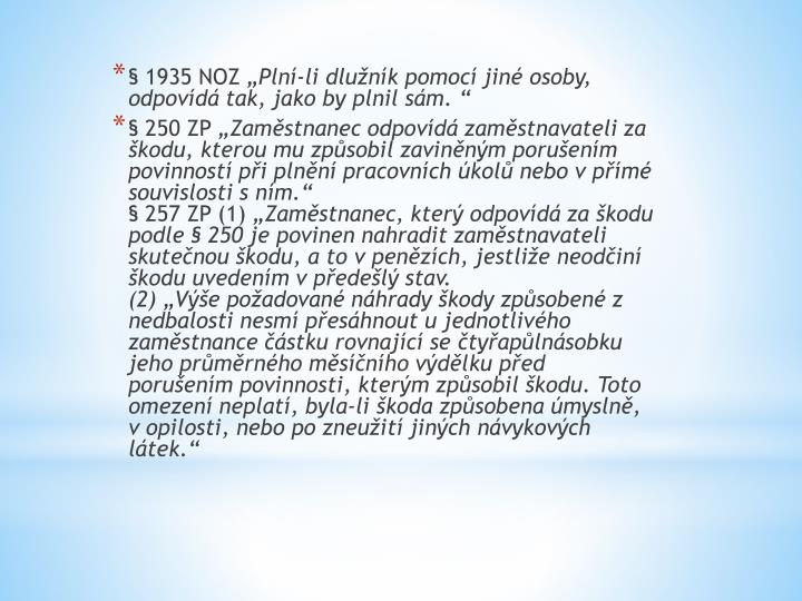 § 1935 NOZ