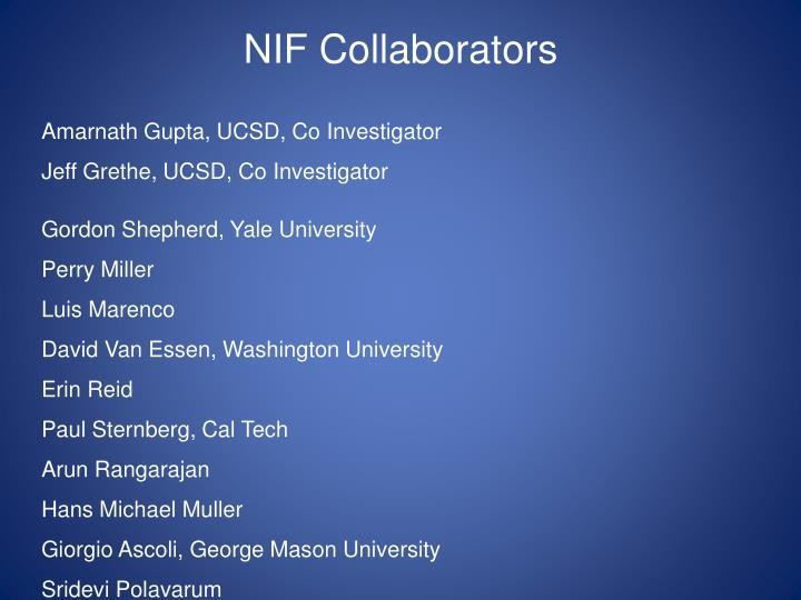 NIF Collaborators