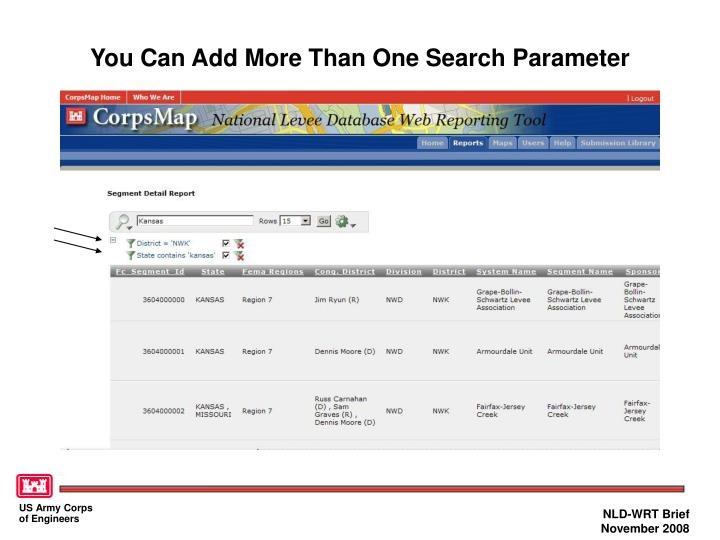You Can Add More Than One Search Parameter