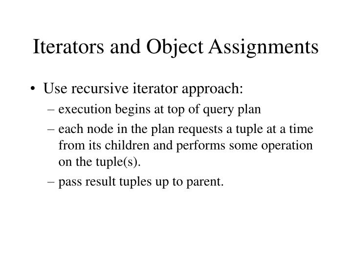 Iterators and Object Assignments