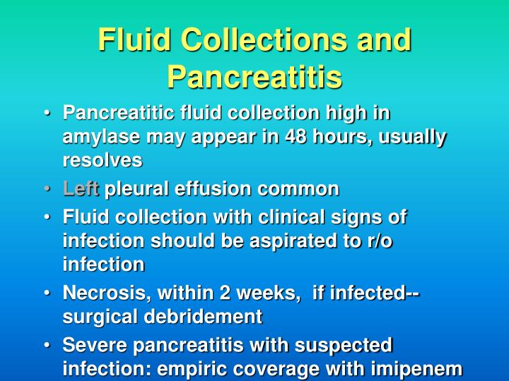 Fluid Collections and Pancreatitis