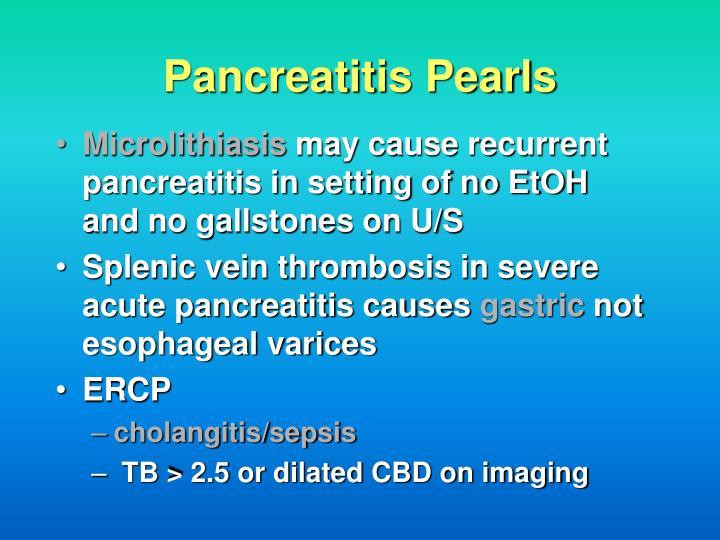 Pancreatitis Pearls