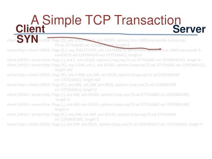 A Simple TCP Transaction