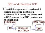 dns and stateless tcp