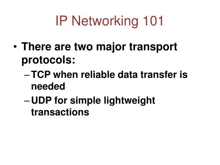 IP Networking 101
