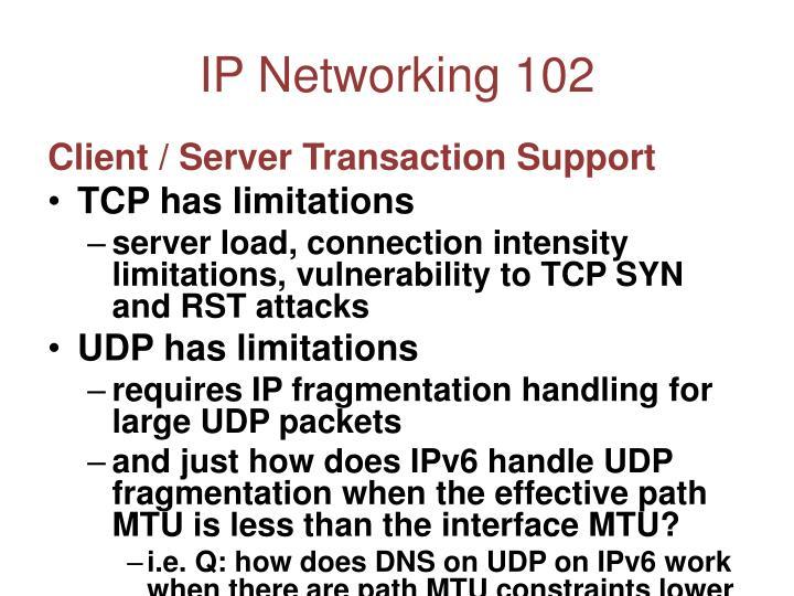 IP Networking 102