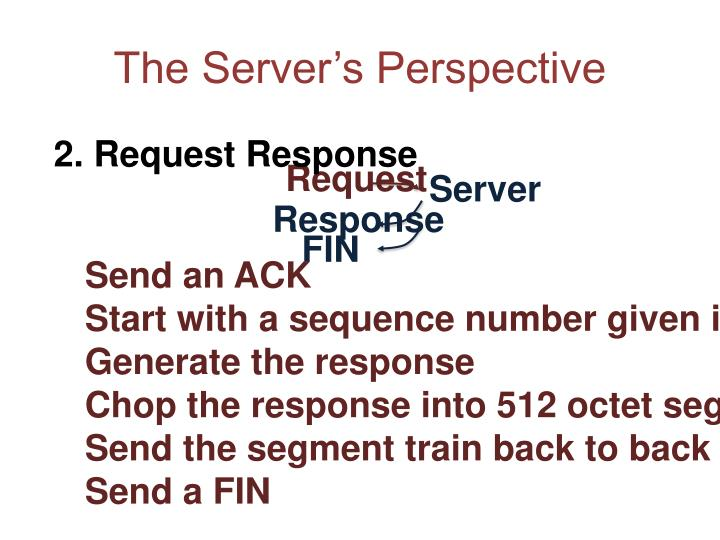 The Server's Perspective