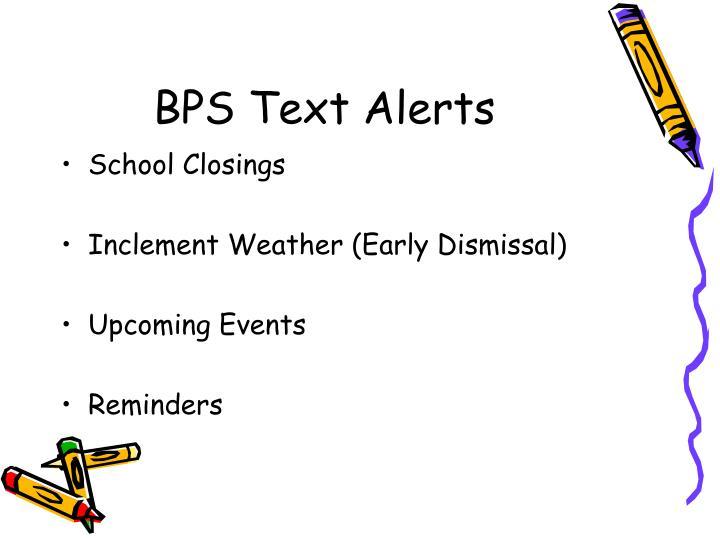 BPS Text Alerts