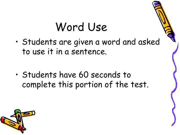 Word Use